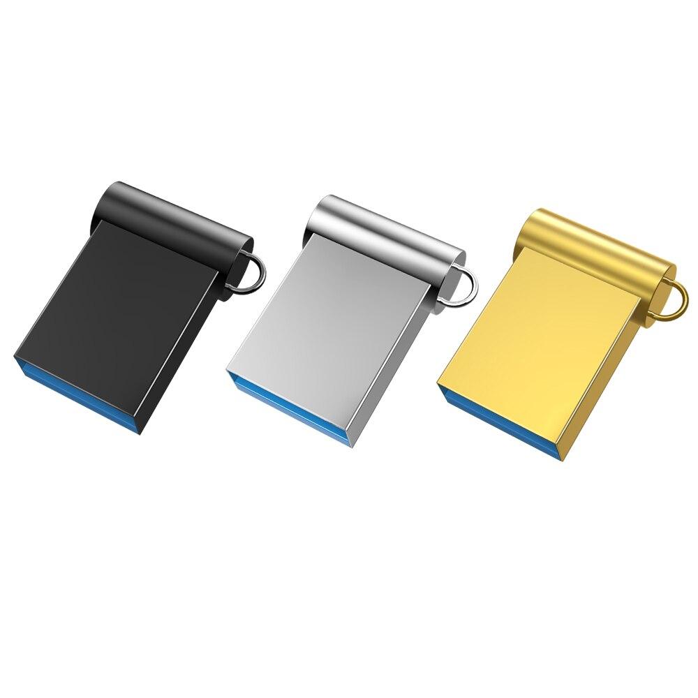 Bút Mini 3.0 Pendrive USB Kim Loại Đèn LED 4GB 8GB 32GB Tốc Độ Cao Dán 16GB Cle Đĩa USB 64GB Bộ Nhớ 128GB title=