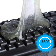 Practical Cyber Super Cleaner Magic Groove Dust Cleaning Compound Slimy Gel Wiper for Keyboard Car Laptop Cleaning Product 1pc