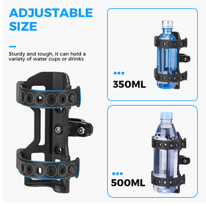 Image 5 - Motorcycle Water Bottle Drink Cup Holder Beverage For BMW R1200GS ADV F800GS F700GS CRF1000L Africa Twin CRF1000 25MM Mount