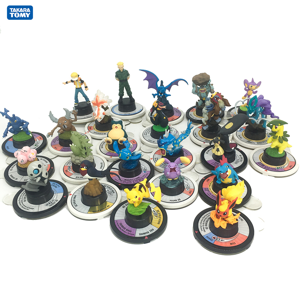 Takara Tomy Pokemon Trading Figure GameJapan Anime Pocket Monster Collectible Action Figures Chess Board Table Game Battle