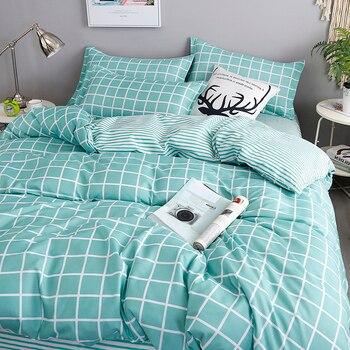 Nordic Bedding Set Light Green Lattice 14