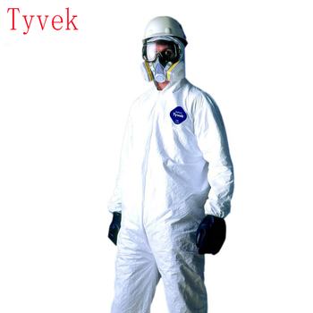 1422a dupont tyvek protective clothing coverall disposable antistatic non linting chemical work clothes anti dust splash Dust and splash-proof work clothes, disposable work clothes with hood, anti-static safety clothes, Tyvek 1422a protective clothe