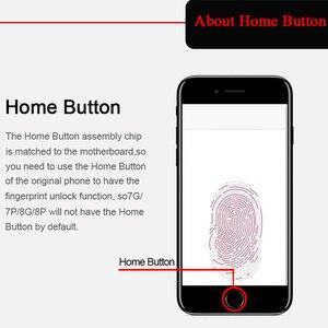 Image 2 - Kompletny wyświetlacz LCD lub komplet lub ekran dla iphone 5S 6S 7 7P lub dla iphone 6 z przyciskiem Home i przednim aparatem