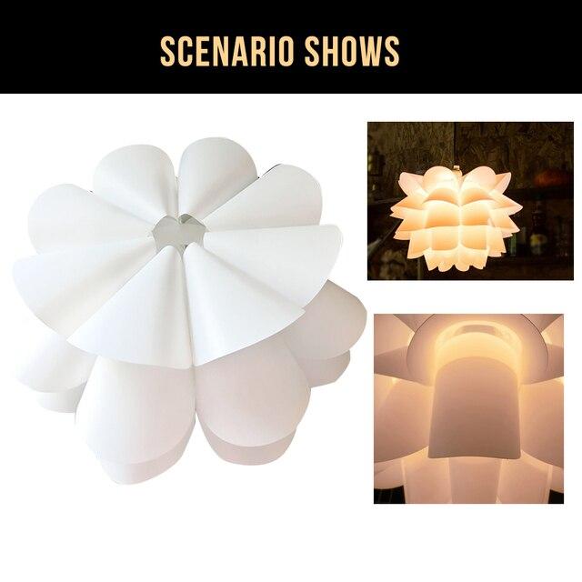 DIY Lotus Flower Lampshade  Flower Lampshade Pendant Lamp Shade Light cover for Ceiling Pendant Office Hotel Bar Home Decor