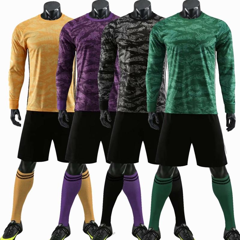 No-brand Blu Jersey di Calcio Lungo addestramento Manicotto di Usura Manica Lunga Sportswear