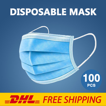 Disposable Protective Mask For The Face Mouth Masks Adult Safety Respirator Anti-dust Fast Shipping DHL 50/100pcs