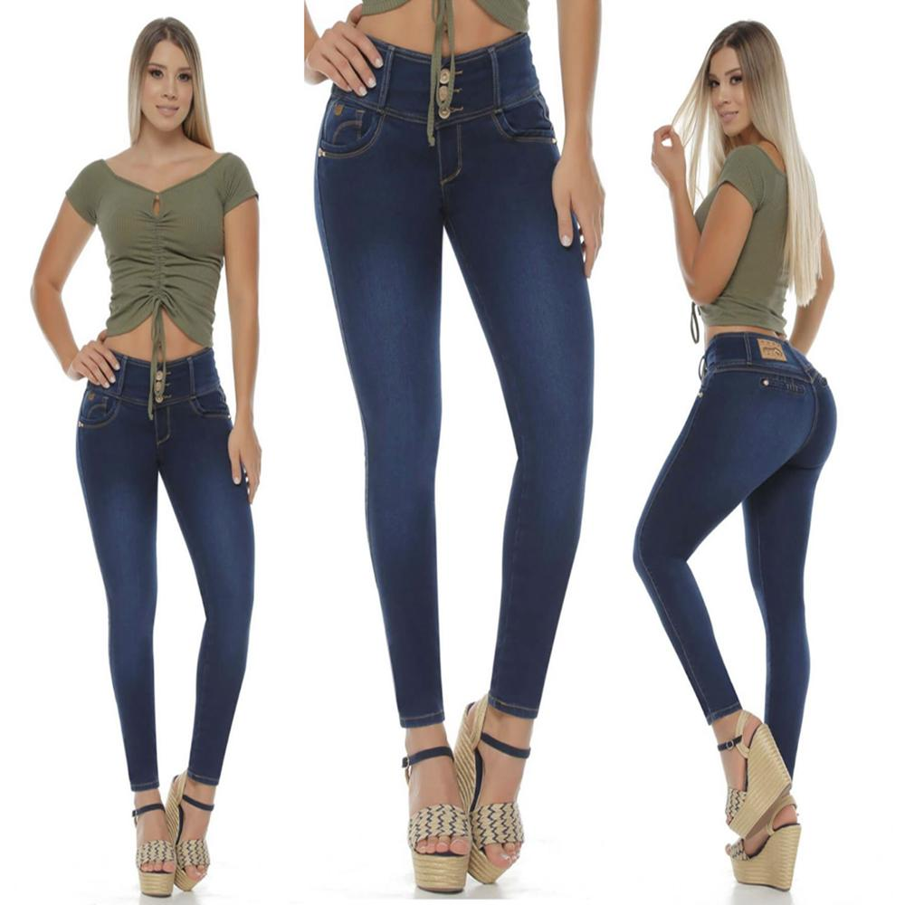 Women's jeans 2020 new high waist small feet denim trousers women