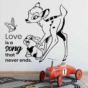 Bambi Cartoon Wall Decal Life