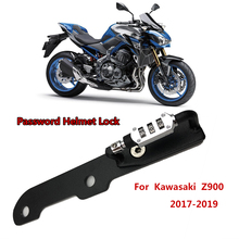 Motorcycle Helmet Lock Password Mount Hook Black Side Anti-theft Security Fits For Kawasaki Z900 Z 900 2017 2018 2019