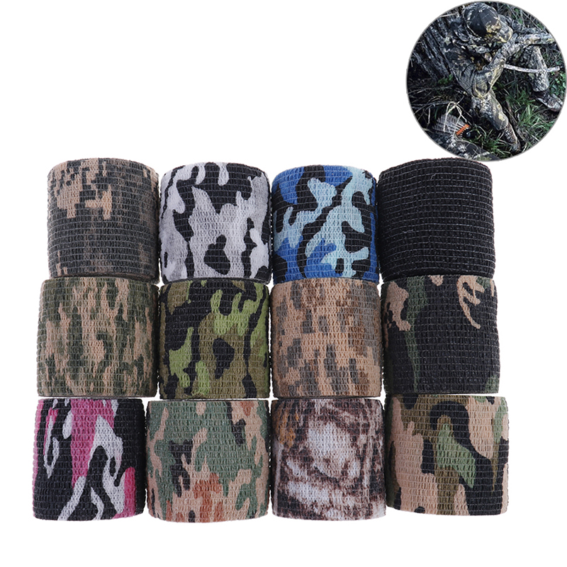 Stealth-Tape Hunting-Shooting Camouflage Outdoor Army Waterproof Wrap 12-Colors 5cmx4.5m
