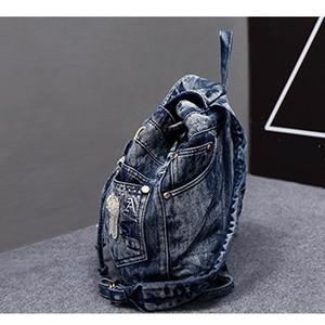 Image 3 - iPinee Hot Sale mochila feminina Womens Backpack denim backpack teenage Girls vintage Travel bag shoulder bags mochila feminina