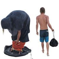 Praia mergulho terno saco à prova dwaterproof água mudando esteira praia surf roupas saco de armazenamento à prova de água poliéster maiô armazenamento transportar pacote|Bolsas de armazenamento dobráveis| |  -