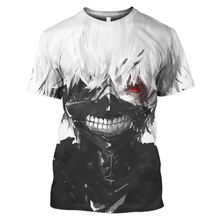 Summer Hot Tokyo Ghoul 3D Print Short Sleeve HD Mens and Womens Fashion Casual футболка