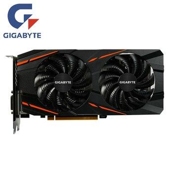Видеокарта Gigabyte RX 570 4 Гб AMD Radeon RX570 4 Гб игровая видеокарта 500 GPU Настольный ПК Компьютерная игровая карта Видеокарта