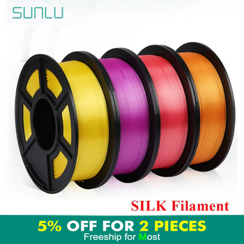 SUNLU Silk PLA Filament 1 75mm 1kg do drukarki 3D jedwabna tekstura PLA 3d Filament Fantasy materiały do drukowania 3D tanie i dobre opinie CN (pochodzenie) solid Other Silk Filament SUNLU Silk PLA Filament Silk Texture 3D Printing Filament 200-230℃ 15 colors