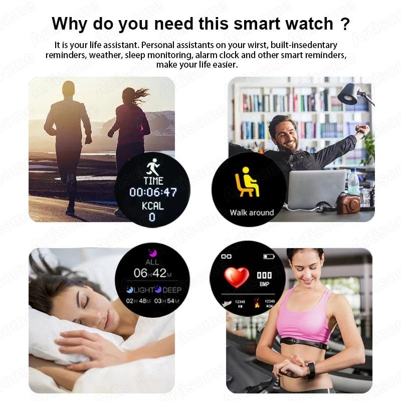 Smart Watch Android Men Women Smartwatch 2020 Heart Rate Monitor Fitness Tracker Sport Watch Smart Bracelet for iPhone Xiaomi 3