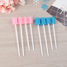 100pcs Cleaning Mouth Swabs Foam Sputum Sponge Stick For Oral Medical Use Oral Care Disposable Oral Care Sponge Swab Tooth 100pcs medical oral cavity mouth sterile suction catheter household manual sputum aspirator use tube adult children f8 f10