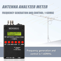 Mini60S 1 60MHz HF ANT SWR Antenna Analyzer Meter with BT Android APP PC Software for Ham Radio Hobbists