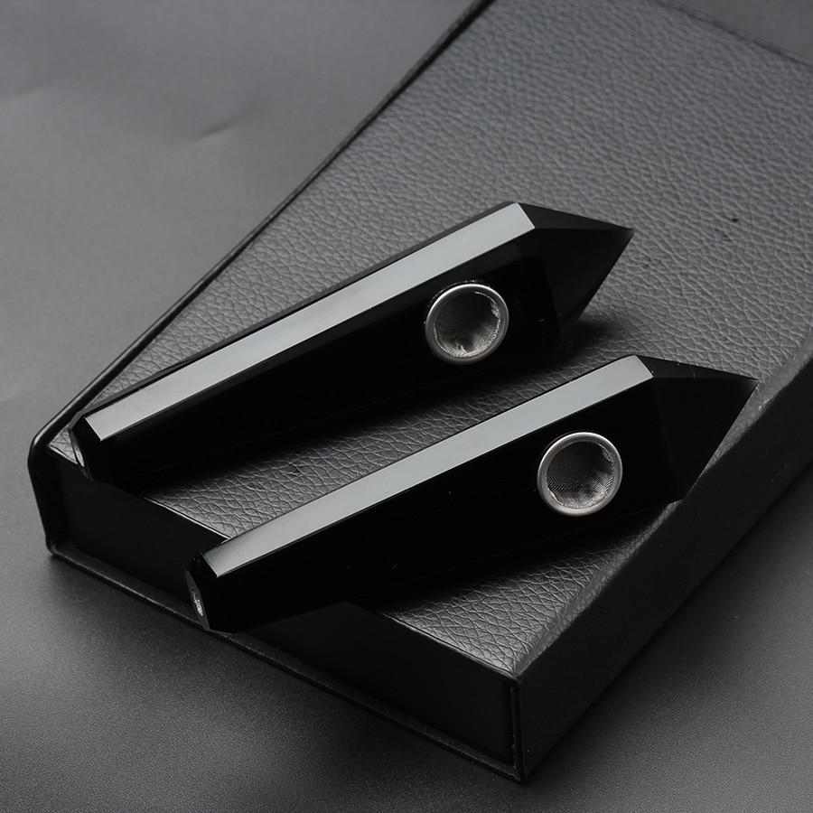 35g de cristal de quartzo natural que cura o ponto de fumo da tubulação obsidiana