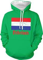 TSDFC Men's Flag of The Netherlands Dutch Country Flag Two Tone Hoodie Unisex men women hoodie