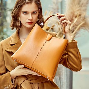 Prawdziwe skórzane torebki damskie 2020 nowe torebki i torebki teczki luksusowe torebki damskie torebki projektant kobiet torba na ramię tanie i dobre opinie PRAWDZIWA SKÓRA Skóra bydlęca Biznes Otwór na wyjście Kieszonka na telefo Wewnętrzna kieszeń na zamek błyskawiczny