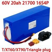 Batterie Lithium pour vélo et trottinette électrique, 60V, 20ah, 21700/1000W, 16s4p