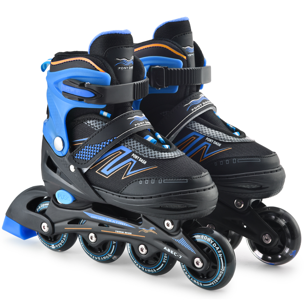 Inline Skates Adjustable With Illuminating Wheels For Kids Boys Girls Ladies 1 Pair Of Inline Skates