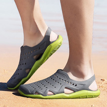 Beach Sandals Jelly-Shoes Summer Mens Slip-On Comfortable Outdoor Casual New Zapatos