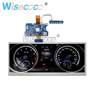 12,3 дюйма 1920*720 ЖК-экран, растягивающаяся панель, Автомобильный дисплей, HDMI, USB, Type-C, плата контроллера