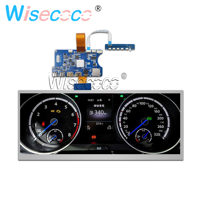 12.3 Inch 1920*720 LCD Stretched Bar Screen HSD123KPW1-A30 Car Display HDMI USB Type-C Controller Board