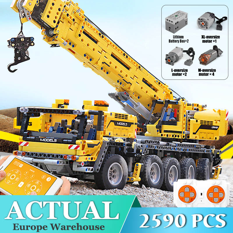 Mobile Crane MK II Compatible <font><b>42009</b></font> Technic Building Blocks Bricks Educational Toy Child Christams Gift image