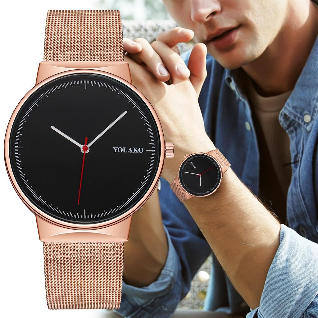 man watch 2019 Men's Quartz Stainless Steel Band Newv Strap Watch Analog Wrist Watch iced out watch
