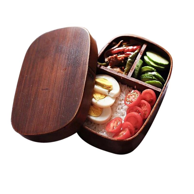 Geleneksel japon tarzı yemek kabı Bento kutusu Bentobox çevre dostu sızdırmaz yemek saklama kapları bölmeleri ile