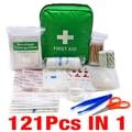 121 шт. зеленая мини безопасная Сумка для кемпинга, походов, автомобиля, аптечка первой помощи, набор для экстренной помощи, набор для лечения ...
