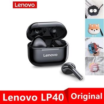 Oryginalne słuchawki bezprzewodowe Lenovo LP40 TWS słuchawki Bluetooth sterowanie dotykowe słuchawki sportowe słuchawki douszne do telefonu Android tanie i dobre opinie Dynamiczny CN (pochodzenie) Prawdziwie bezprzewodowe Do gier wideo Zwykłe słuchawki do telefonu komórkowego Słuchawki HiFi