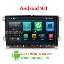 Erisin ES6291V 9 дюймов Android 9,0 6-Core 4 Гб Оперативная память автомобильный мультимедийный плеер Радио BT для Golf Passat Touran сиденье для Polo