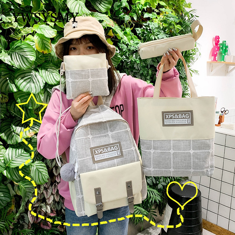 Children School Bag Female Backpack College Student School Backpack Simple Printing Girls Backpack Large Capacity Travel Bags