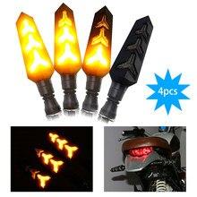 DERI-clignotant pour motos, feux arrière pliables LED, 2 pièces/4 pièces