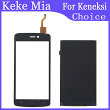 Keke Mia 5.0 Touch Screen LCD Display Panel Sensor For Keneksi Choice Touch Digitizer Phone Front Glass Lens Free Tools keneksi k5 silver