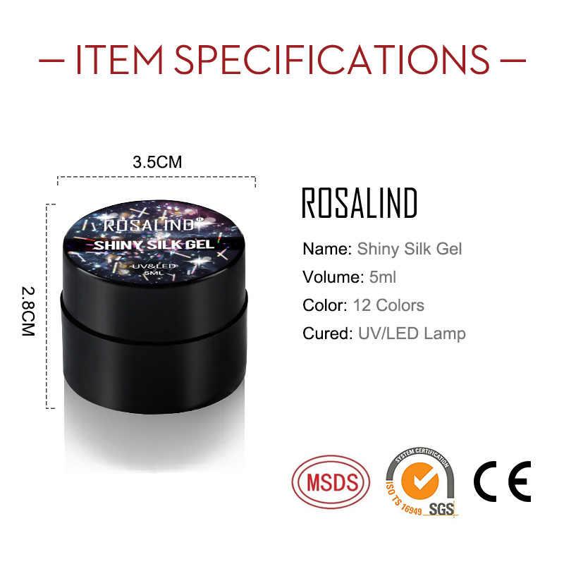 רוזלינד מבריק משי ג 'ל לק בהיר עבור גליטר היברידי לכות מסמר אמנות עיצוב צריך UV מנורת כל עבור מניקור למעלה בסיס
