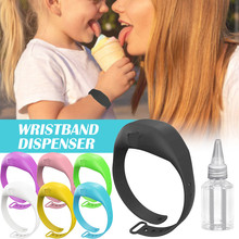 Adult Kid Liquid Wristband Hand Pumps Hand Wash Gel Dispenser Bracelet Wristband Hand Soothing Silicone Bracelet Pumps Hand
