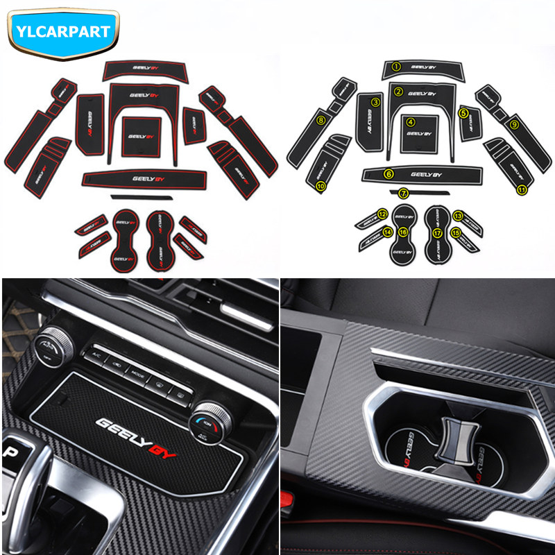 For Geely  Coolray,Proton X50,BinYue,Car Door Cup Hose Protective Mat