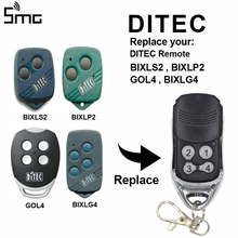 DITEC garage door remote control 433mhz rolling code DITEC GOL4 BIXLG4 BIXLP2 BIXLS2 remote garage command transmitter 433.92mhz ditec gol4 bixlp2 bixls2 bixlg4 replacement remote control free shipping