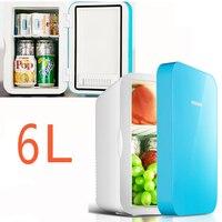22%,pink 4L mini home Car Fridge Mobile refrigerator mute Food grade PP Freezer ABS aluminum 5 65 Celsius Cold/warm box