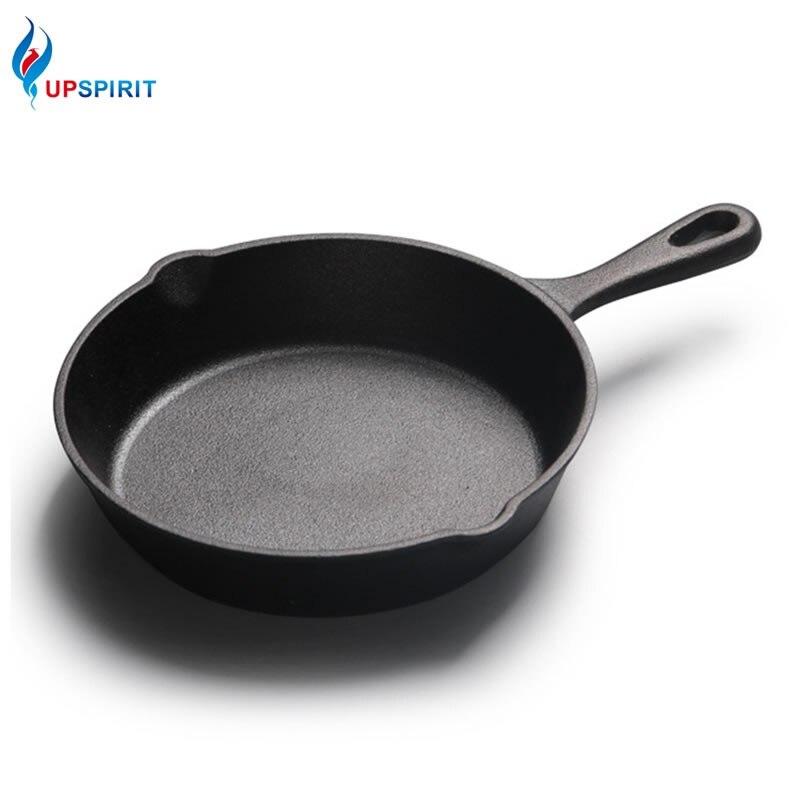 Upsipirit 26CM poêle en fonte revêtement antiadhésif poêle pour poêle à crêpes avec poignée résistant à la chaleur cuisinière à Induction gaz