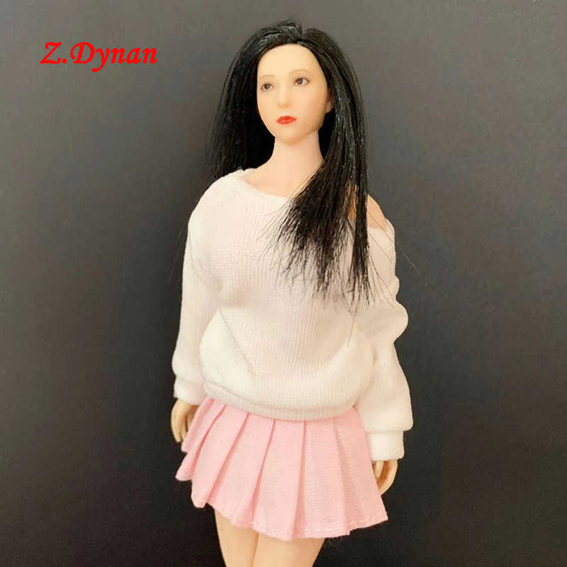 """White Lace Handmade Top and Miniskirt Set for 1//12 TBLEAGUE PHICEN 6/"""" Doll"""