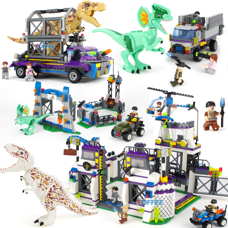 <font><b>TS8000</b></font> Compatible Legoings Jurassiclyss World Building Blocks Dinosaur Figures Legend Assembly Building Block Toy Gift for Kids image