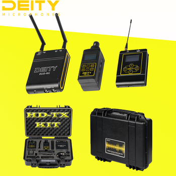 Deity HD-TX KIT Connect Interview Kit 2.4G Wireless Microphone professional 100M OLED Display XLR/TRS MIC For Canon Nikon Camera