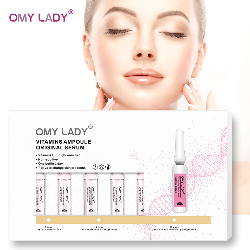 OMY LADY recentes 7PCS essência soro facial clareamento hidratante enfraquecer as linhas finas anti-envelhecimento anti-rugas nutritivo reparação