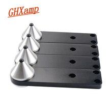 GHXAMP altavoz combinado con pie con pinchos, amortiguador de aluminio, para viaje, anti resonancia, trípode para uñas de alta gama